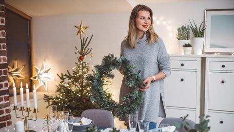 Weihnachten steht vor der Tür und im eigenen Zuhause wird festlich dekoriert
