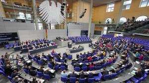 Der Plenarsaal des Bundestages