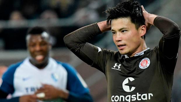 Ryo Miyaichi vom FC St. Pauli ärgert sich im Spiel gegen den VfL Bochum