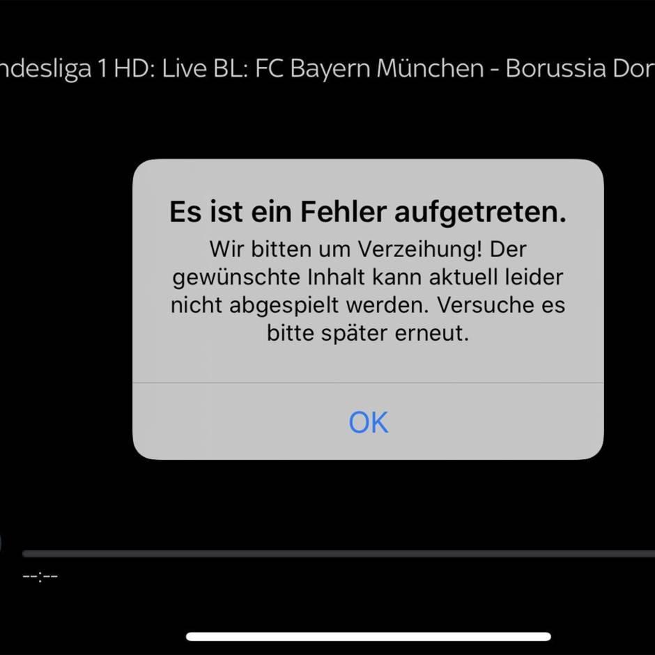 Ärger um Bundesliga-Topspiel: Störung bei Bayern gegen den BVB: Sky will betroffene Kunden entschädigen