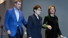 Grundrente-Kompromiss: Markus Söder, Annegret Kramp-Karrenbauer und Malu Dreyer sind zufrieden
