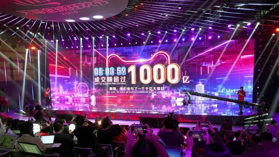 Ein Singles'-Day-Event in Hangzhou, China