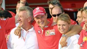 Willi Weber, Michael Schumacher und Corinna Schumacher