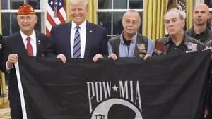 Trump genehmigt Flagge für Kriegsgefangene und Verschollene.