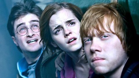 Harry Potter, Hermine Granger und Ron Weasley