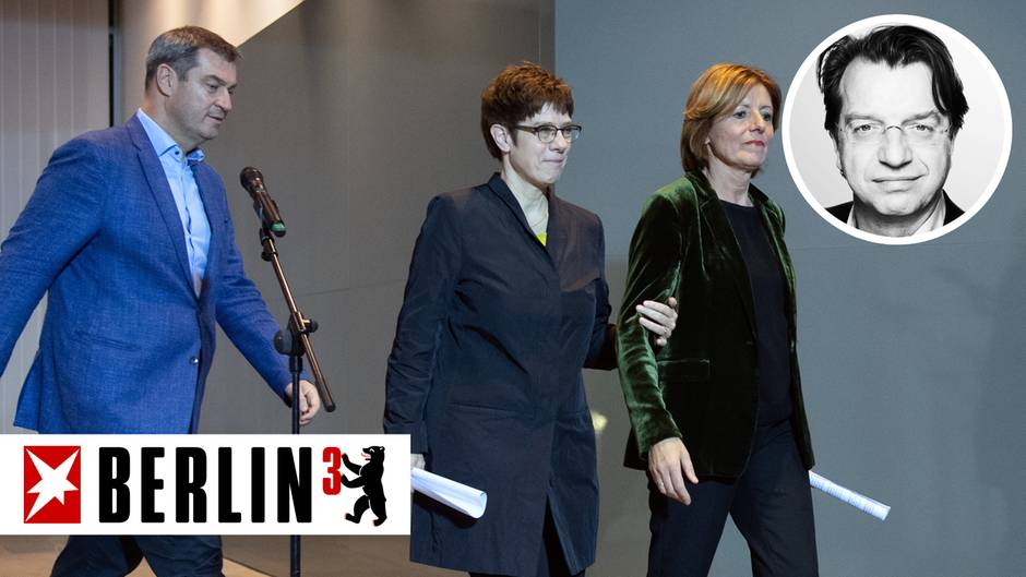 Von links nach rechts: Markus Söder (CSU), Annegret Kramp-Karrenbauer (CDU) und Malu Dreyer (SPD)