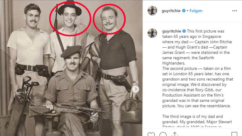Guy Ritchies Vater und Hugh Grants Vater