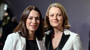 Anne Will (l.) und Miriam Meckel