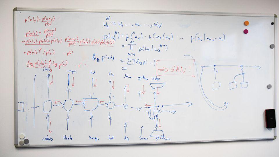 Tafel mit einer Formel