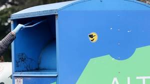 Ein Altkleidercontainer (Symbolbild)