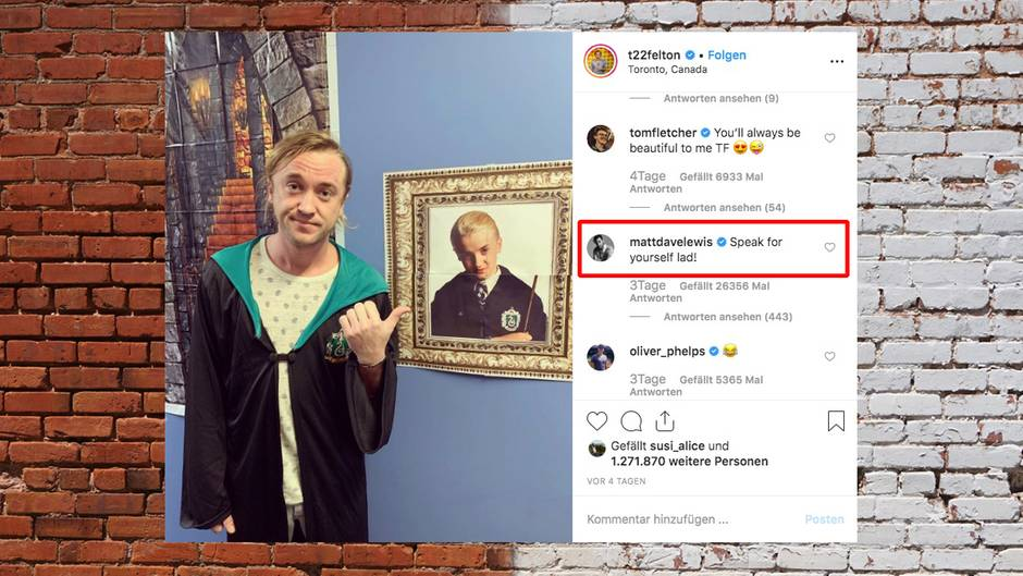 Harry Potter: Tom Felton und Matthew Lewis liefern sich Instagram-Battle