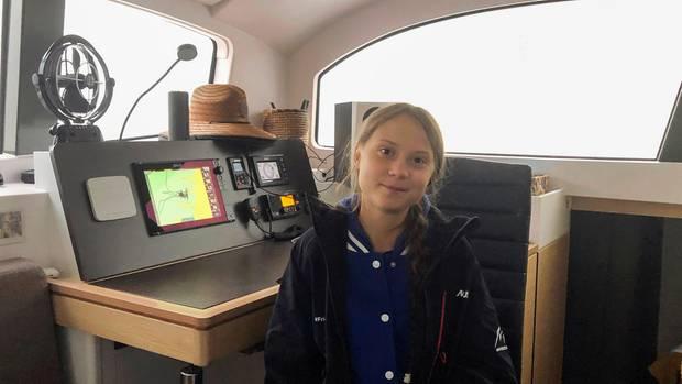 "Greta Thunberg an Bord der ""Vagabonde"""