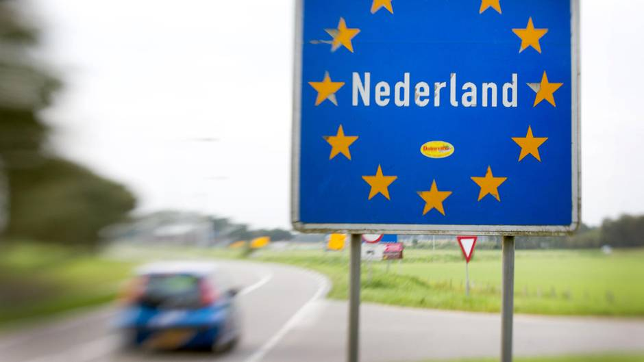 Die Grenze zwischen den Niederlanden und Deutschland