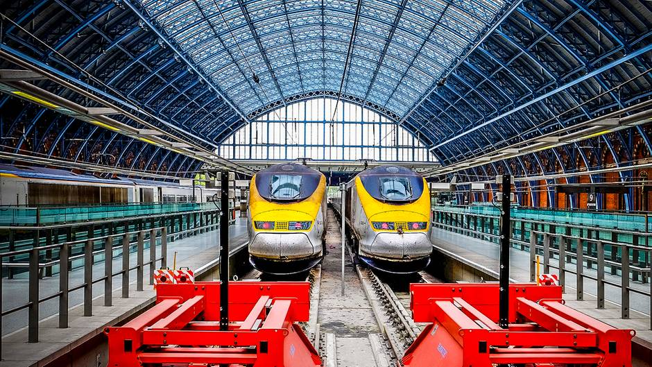 Eurostar im Bahnhof