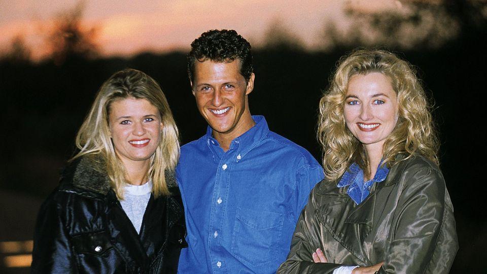 Corinna und Michael Schumacher mit Frauke Ludowig