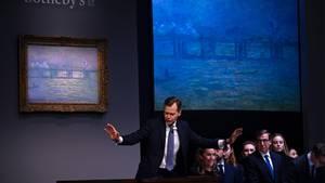 """Das London-Gemälde """"Charing Cross Bridge"""" bei der Versteigerung"""