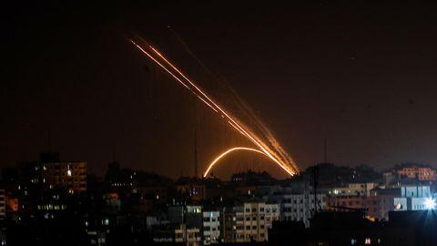 Raketen werden aus dem Gazastreifen in Richtung Israel abgefeuert