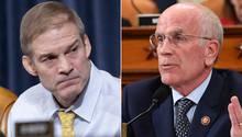 Jim Jordan (l.) und Peter Welch bei der Anhörung im US-Kongress
