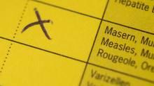 Impfpass mit Masern-Zeile