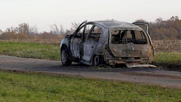 Das ausgebrannte Auto