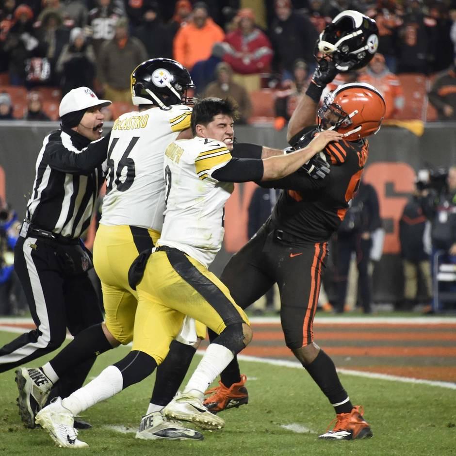 Sport kompakt: NFL-Skandal: Spieler zieht Quarterback den Helm vom Kopf und schlägt damit auf ihn ein