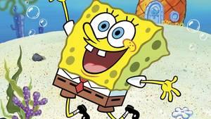 Spongebob springt freudig in die Luft