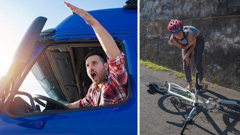 Unfallgefahr: Lkw-Fahrer schreibt eindringliches Posting an Radfahrer