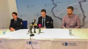 Pressekonferenz der Polizei nach dem angeblichen Spritzenangriff auf eine Jugendliche