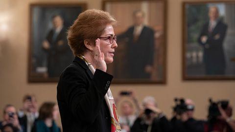 Marie Yovanovitch sagte zum Amtsenthebungsverfahren von US-Präsident Donald Trump aus