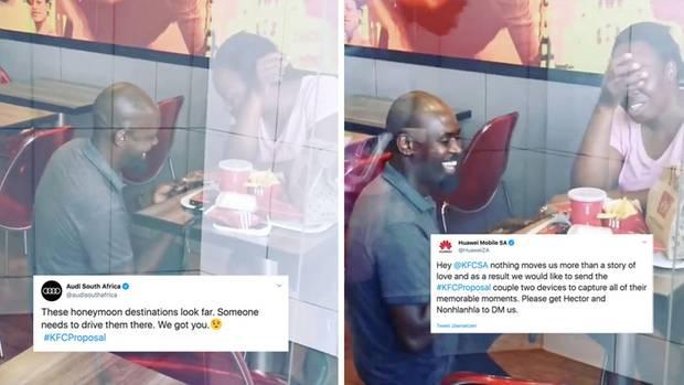 Dieser Mann macht seiner Frau einen Heiratsantrag in einem Fastfood-Restaurant