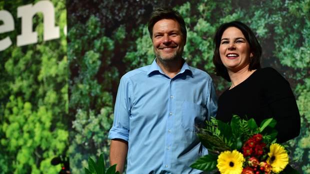 Grünen-Politiker Robert Habeck und Annalena Baerbock