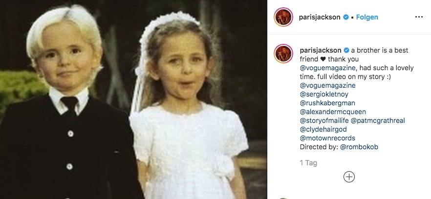Vip News: Paris und Prince Michael Jackson erinnern sich an Kindheit zurück