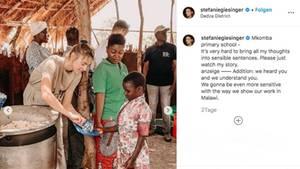 """Stefanie Giesinger wird auf Instagram """"White Saviorism"""" bezichtigt"""