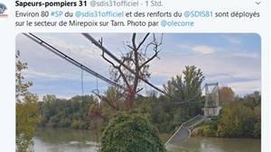 Eingestürzte Brücke bei Toulouse