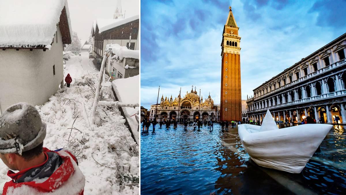 Unwetter in Italien: Schneechaos in Südtirol – Hochwasserlage in Venedig entspannt sich leicht