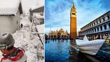 Italien: Schneechaos in Südtirol - Entspannung in Venedig
