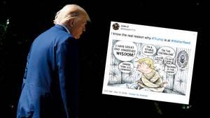 Trump auf dem Weg ins Walter-Reed-Militärkrankenhaus