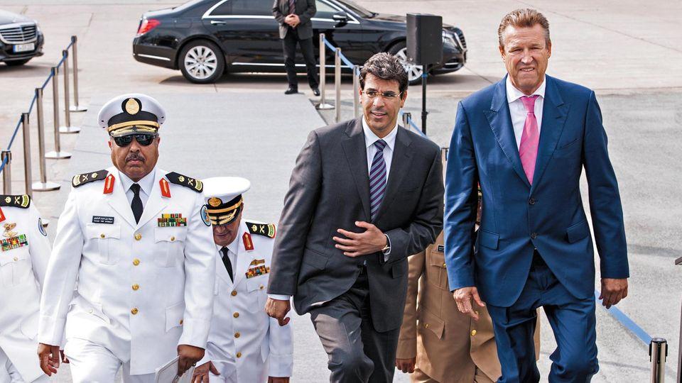 Friedrich Lürßen mit dem damaligen saudi-arabischen Botschafter