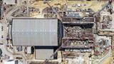 Die Halle des Reaktors wird eine Höhe von 73 Metern erreichen.