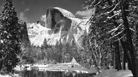 Winterim Yosemite National Park: Die Aufnahme vom Half Dome machte Ansel Adams im Herbst 1938.
