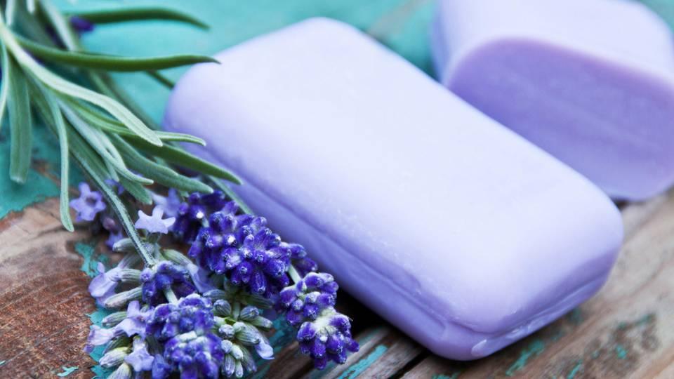 Haarseife mit Lavendel