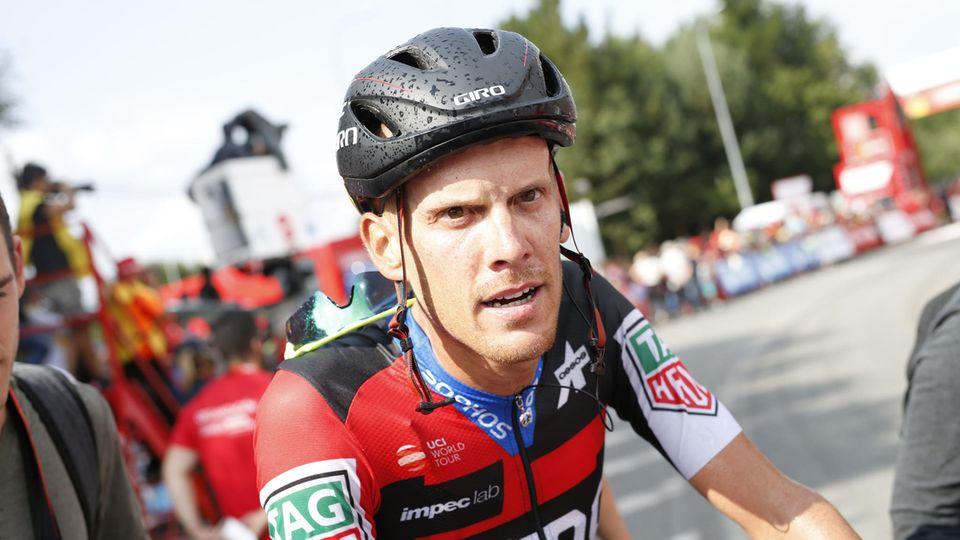 Alessandro DeMarchi nach seinem Etappensieg bei der Vuelta a Espana 2018