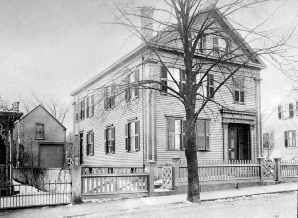 Das Wohnhaus von Lizzie Borden im jahr 1892.