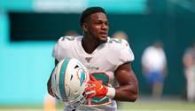 sport kompakt: Dolphins-Running-Back Mark Walton bei einem NFL-Spiel am 3. November