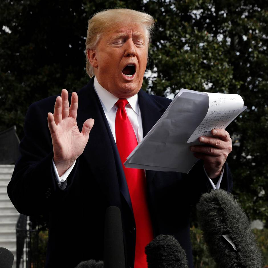 """Nach Sondland-Aussage: """"Muss sich selbst daran erinnern, dass er US-Präsident ist"""" - Häme über Trumps Filzstift-Notizen"""