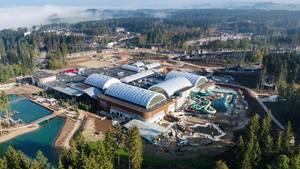 Nachrichten aus Deutschland: Nebel über der neuen CenterParcs-Ferienanlage im Allgäu