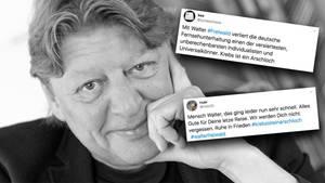 In den sozialen Netzwerken trauern Fans und Kollegen um den Entertainer Walter Freiwald.