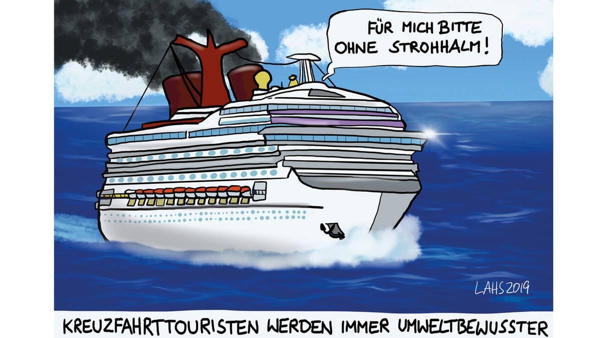Deutscher Karikaturenpreis: Der Newcomer des Jahres knöpfte sich klimabewusste Kreuzfahrttouristen vor