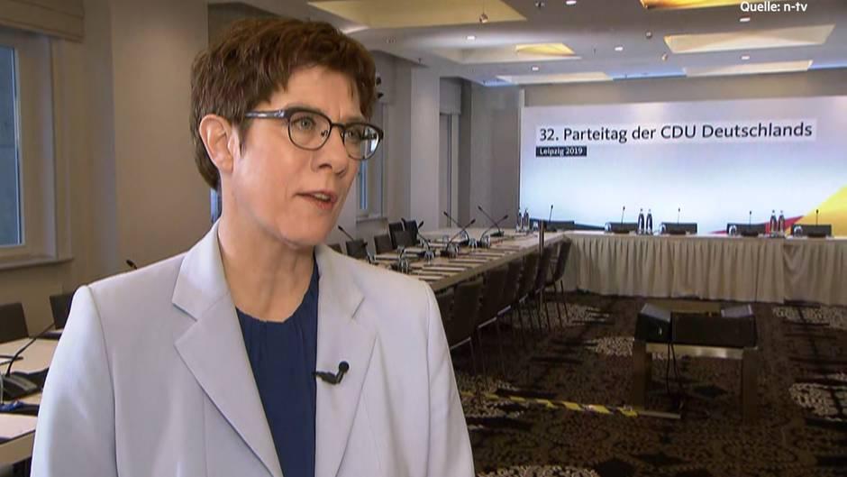 Auf dem CDU-Parteitag in Leipzig redet Annegret Kramp-Karrenbauer über die Zukunft der Union