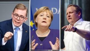 Phillip Amthor (l.) und Tilman Kuban (r.) gehören zu den Nachwuchspolitikern in der CDU, die Bundeskanzlerin Merkel von rechts angreifen
